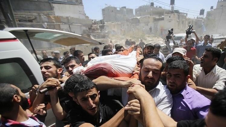 غزة.. 13 قتيلا فلسطينيا وحصيلة القصف الإسرائيلي ترتفع إلى  2105