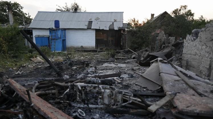 مقتل أسرة مكونة من 3 أفراد في قصف على دونيتسك بأوكرانيا