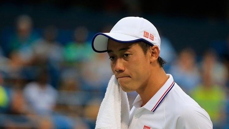اللياقته البدنية تقلق الياباني كي نيشيكوري قبل يومين من بطولة أمريكا للتنس
