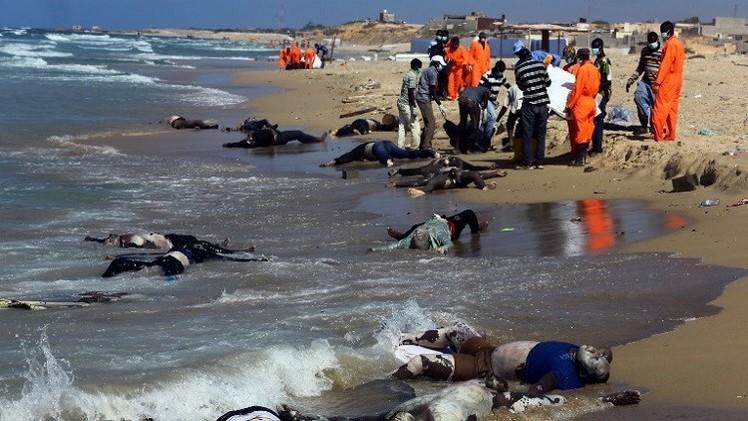 انتشال 170 جثة لمهاجرين غير شرعيين قبالة السواحل الليبية