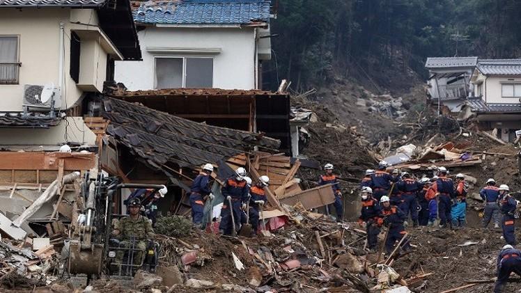 اليابان.. ارتفاع قتلى الإنزلاقات الأرضية في هيروشيما إلى 60