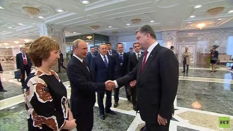 بوتين وبوروشينكو يلتقيان وجها لوجه في مينسك