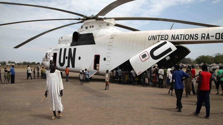 مقتل 3 طيارين روس في تحطم مروحية للأمم المتحدة بجنوب السودان