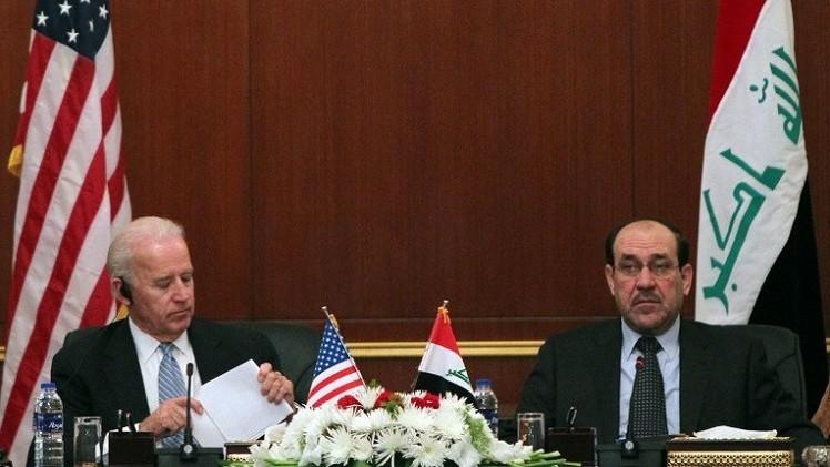 المالكي ينتقد تصريحات بايدن حول تشكيل أقاليم طائفية في العراق