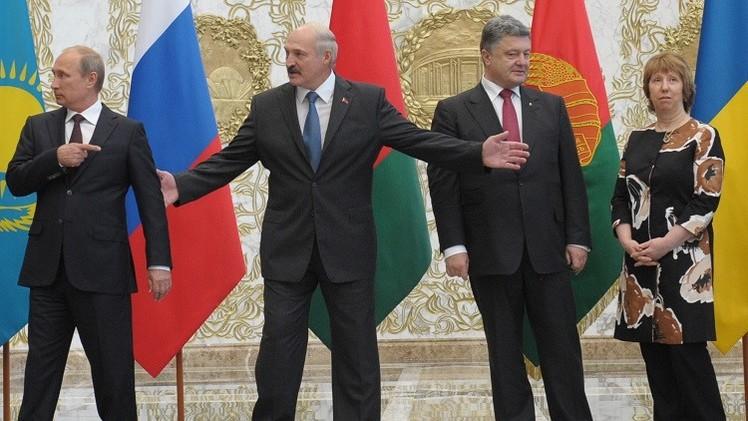 كييف: محادثات مينسك تبعث على