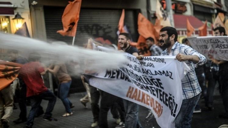 مسيرة في اسطنبول احتجاجا على أردوغان كرئيس لتركيا
