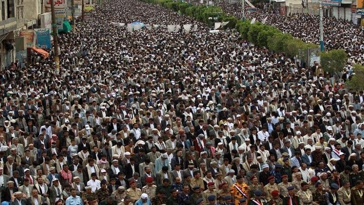 مظاهرات للحوثيين وأخرى مناصرة للحكومة في صنعاء