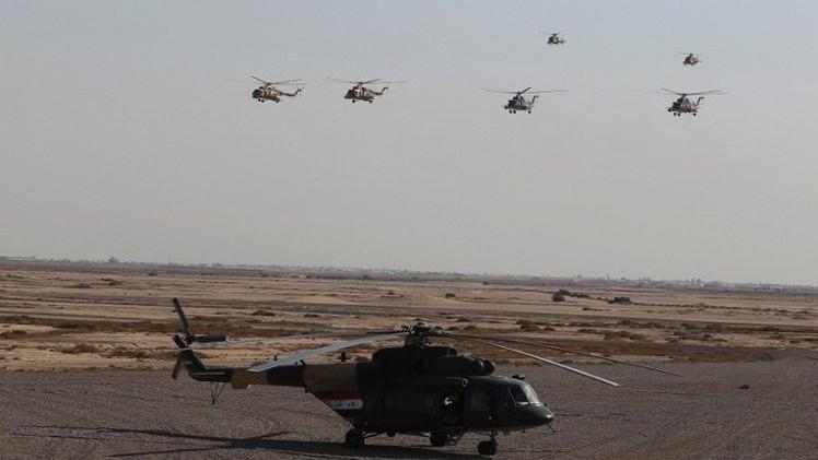 طيران الجيش العراقي يقصف مواقع لـ
