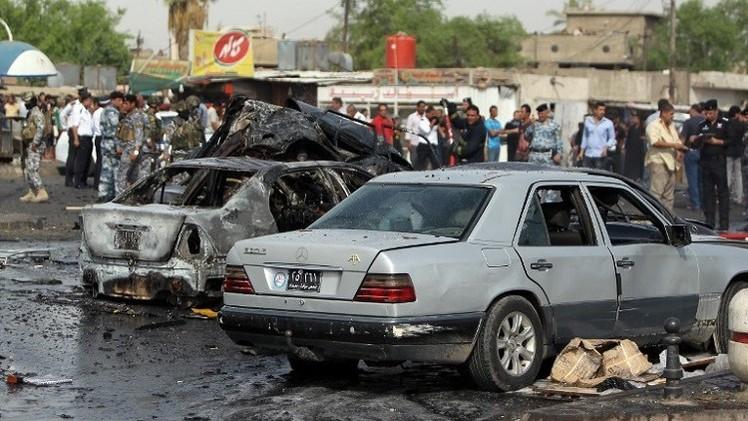 مقتل وإصابة أكثر من 40 عنصر أمن عراقي بتفجير سيارة مفخخة جنوب بغداد