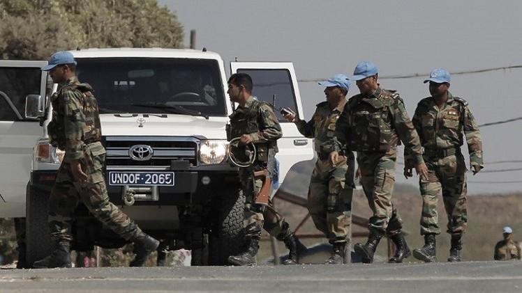 إجلاء  32 عنصرا من قوات حفظ السلام المحاصرين في الجولان