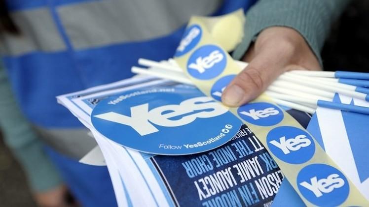 استطلاع: زيادة التأييد لاستقلال اسكتلندا قبل 17 يوما من استفتاء