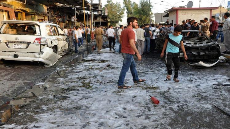 9 قتلى و32 جريحا في تفجير انتحاري شمال بغداد