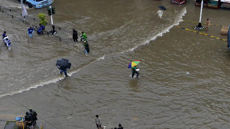 مقتل أكثر من 40 شخصا جراء الأمطار الموسمية في باكستان