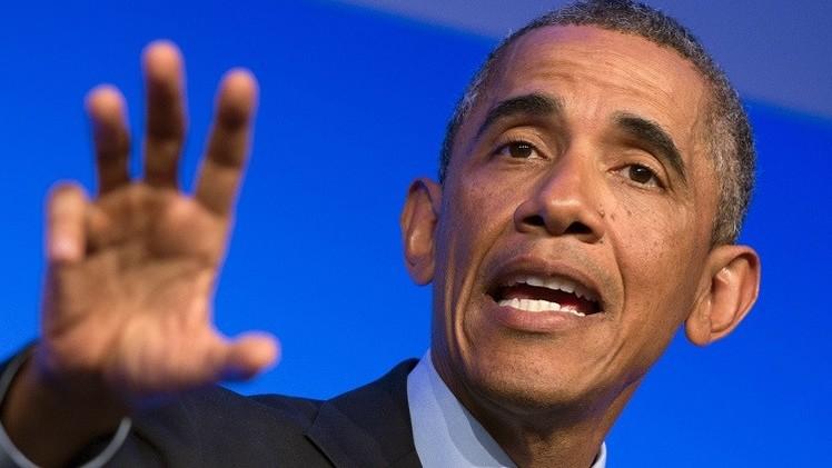 أوباما: العقوبات ضد روسيا يمكن أن ترفع إذا نُفذت خطة التسوية السلمية بأوكرانيا