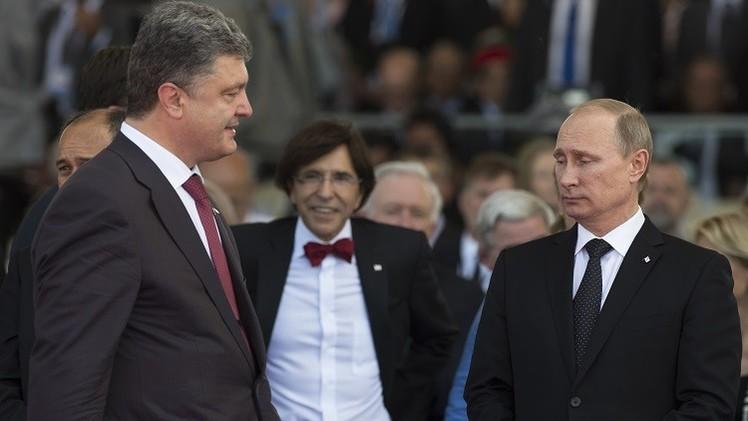 بوتين وبوروشينكو يبحثان التسوية في جنوب شرق أوكرانيا