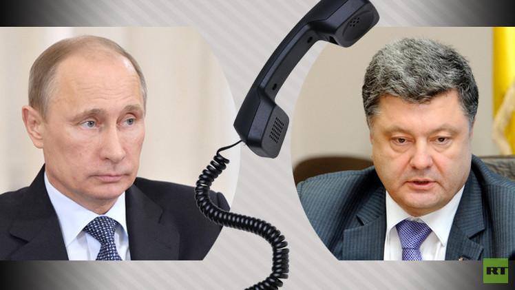 بوتين وبوروشينكو مرتاحان لسير الهدنة في شرق أوكرانيا