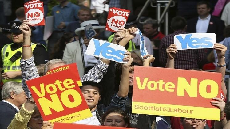 استطلاع: تراجع نسبة المؤيديين لانفصال اسكتلندا عن المملكة المتحدة