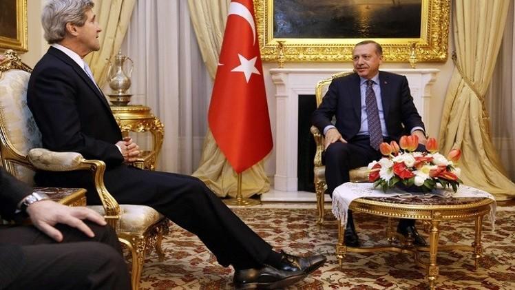 كيري: تركيا تقف مع الحلف ضد