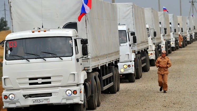 ثاني قافلة مساعدات روسية تعبر حدود أوكرانيا