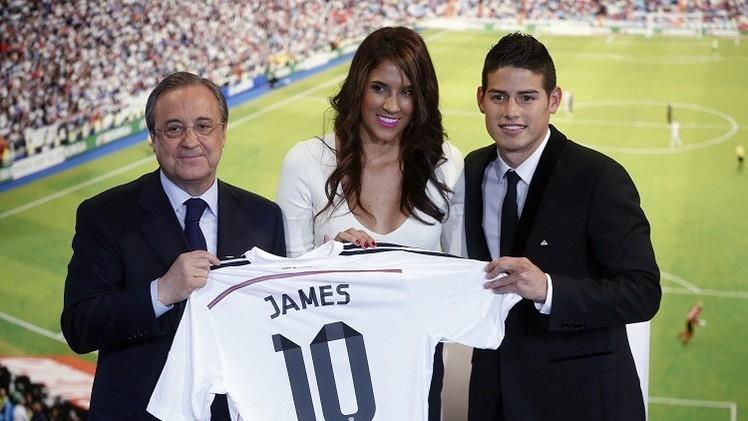 ريال مدريد يتعاقد مع زوجة الكولومبي رودريغيز