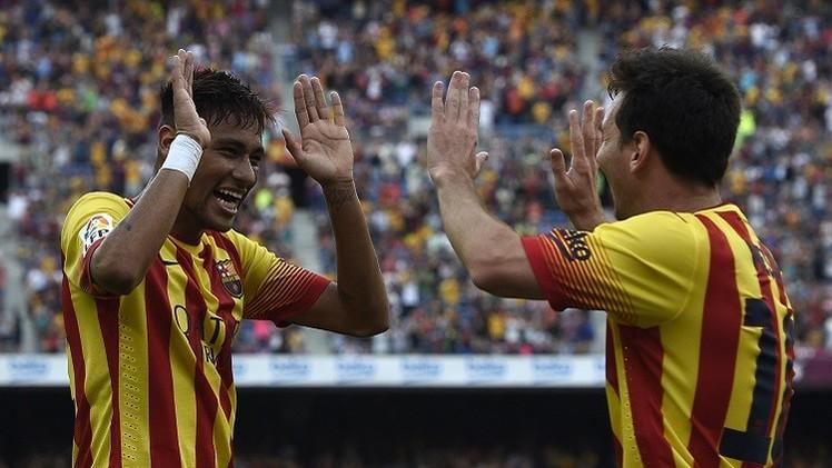 الثنائي المرعب ميسي ونيمار يقودان برشلونة إلى الفوز على بيلباو