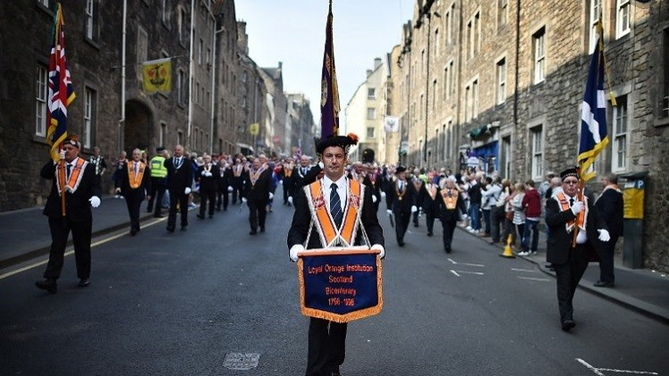 الآلاف يتظاهرون في أدنبرة رفضا لاستقلال اسكتلندا