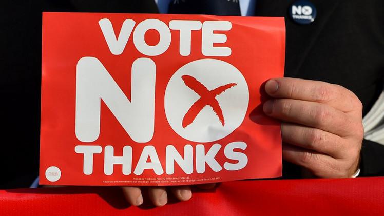 كفة المعارضين للانفصال عن المملكة المتحدة ترجح في اسكتلندا