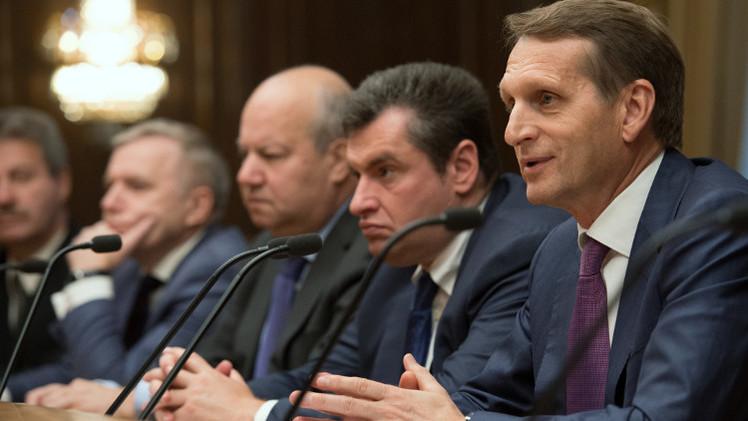 ناريشكين: موسكو وكييف ستضطران لبحث التعاون في القرم