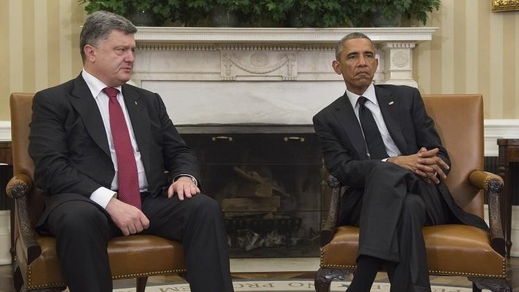 أوباما يؤكد لبوروشينكو استعداد واشنطن لدعم أوكرانيا في مفاوضاتها مع روسيا