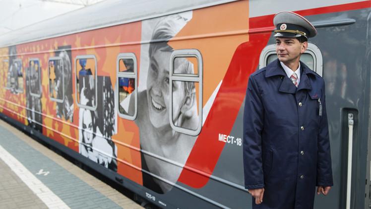 قطار معهد الفن السينمائي في رحلة عبر 15 مدينة روسية