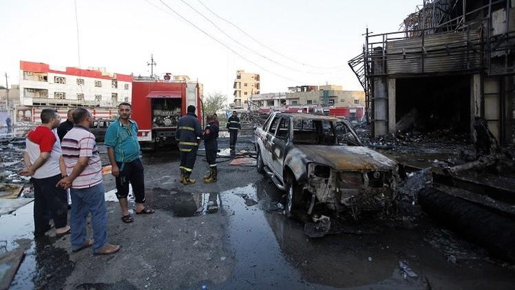 20 قتيلا و 70 جريحا في تفجير انتحاري بسيارة في بغداد