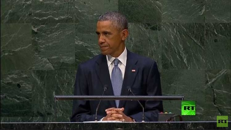 أوباما أمام الجمعية العامة للأمم المتحدة: لن نرسل جنودا أمريكيين لسورية أو العراق