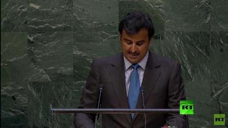 أمير قطر: على المجتمع الدولي العمل الجاد لوضع حد لإراقة الدماء في سورية