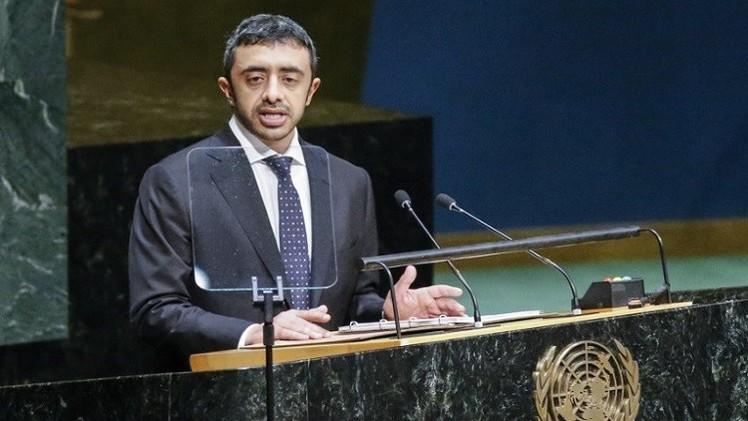 وزير خارجية الإمارات يدعو الى مواجهة