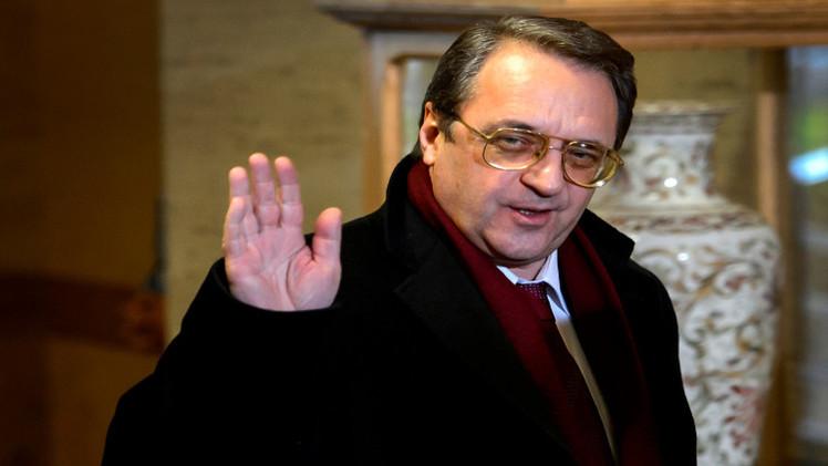 بوغدانوف: يجب التنسيق مع دمشق وبغداد في محاربة