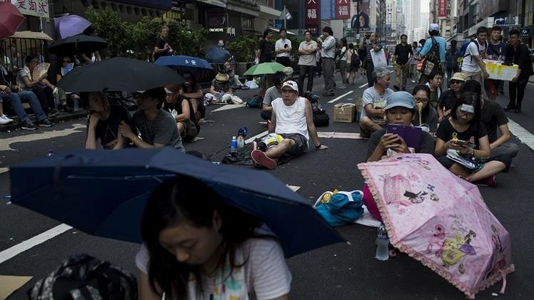 حكومة هونغ كونغ تدعو إلى وقف الاحتجاجات