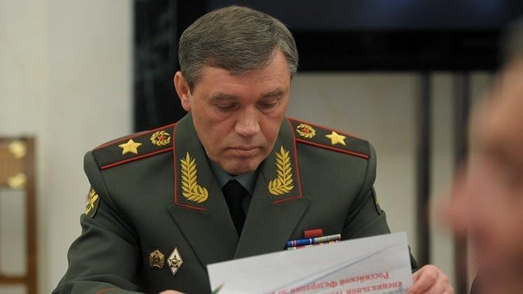 رئيس أركان الجيش الروسي قلق من تطور الأوضاع في الشرق الأوسط