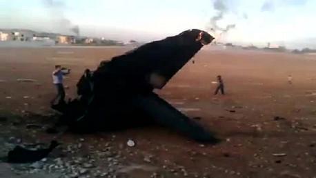 هيكل طائرة حربية سورية