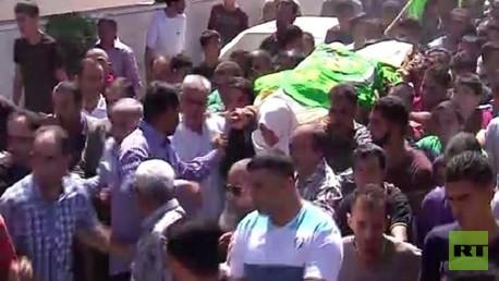 تشييع جثامين الشابيين الفلسطينيين في الخليل