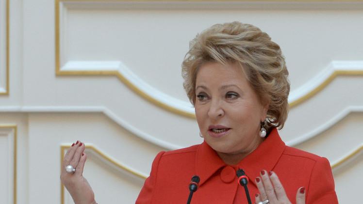 إعادة انتخاب فالنتينا ماتفيينكو رئيسة لمجلس الاتحاد الروسي
