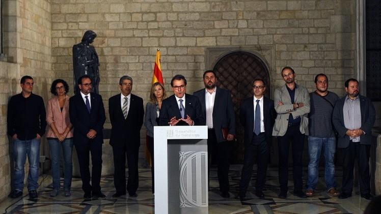 حكومة كاتالونيا تعلن المضي في إجراءات استفتاء الانفصال عن إسبانيا