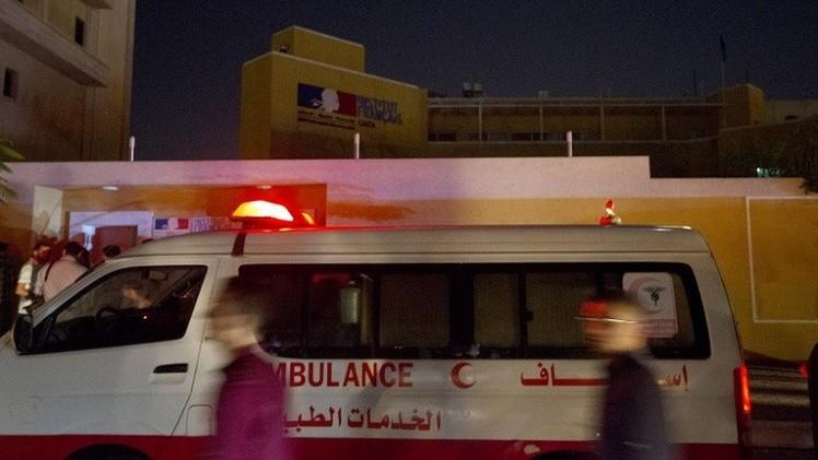 انفجاران يهزان المركز الثقافي الفرنسي في غزة