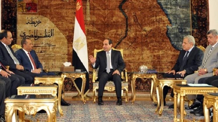 الرئيس المصري يستقبل رئيس الوزراء الليبي في القاهرة