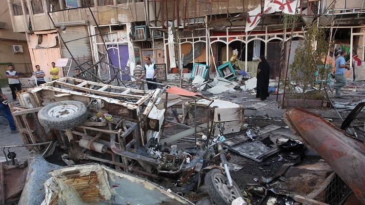 مقتل وإصابة أكثر من 30 شخصا بتفجير انتحاري شرق بغداد