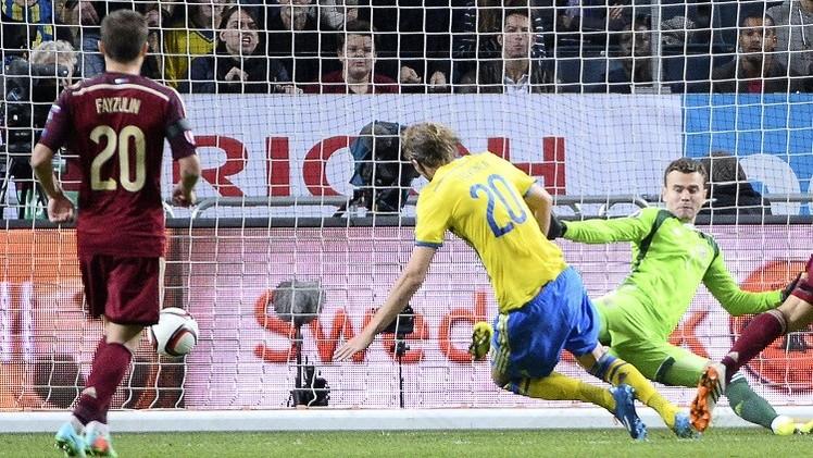 روسيا تتعادل مع السويد في تصفيات