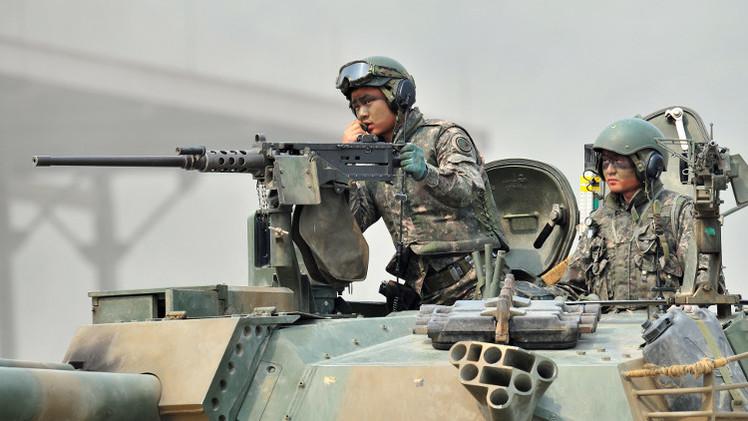 تبادل النار عبر الحدود بين الكوريتين