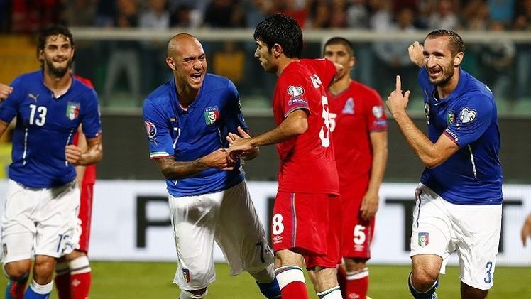 كيليني ينقذ إيطاليا من كمين أذربيجان في تصفيات