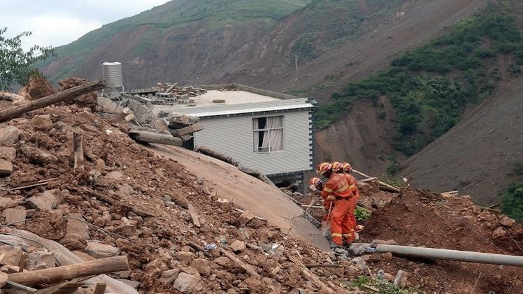 مقتل 19 شخصا بانهيار أرضي في الصين