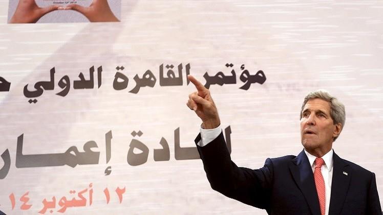 كيري يجدد تعهد واشنطن بحل دائم للصراع الفلسطيني الإسرائيلي