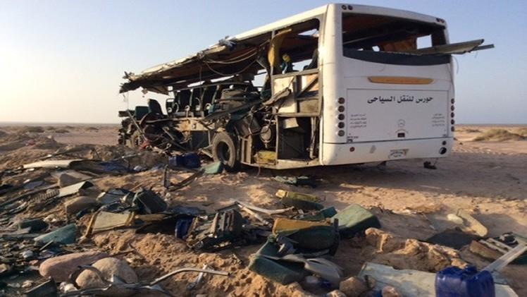 مصرع 30 في حادث مروري بمصر